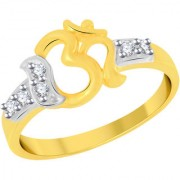 VK Jewels Om Gold and Rhodium Plated Alloy Ring for Women Girls Made With Cubic Zirconia- FR2374G VKFR2374G8