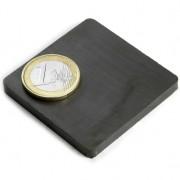 Magnet ferita bloc, 50x50x5 mm, putere 2 kg