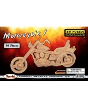 Puzzled Motorcycle 1 Wooden 3 D Puzzle Construction Kit