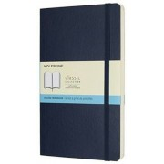 Moleskine Classic Notebook, Large, Dotted, Sapphire Blue, Soft Cover (5 X 8.25)