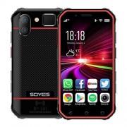 ZHANGZC Smartphone SOYES S10 3 GB + 32 GB, y Face ID identificación de Huellas Dactilares, Dual SIM, Bluetooth, Wi-Fi, GPS, NFC, Red: 4G, Soporte Google Play (Color : Black Red)