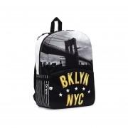 Mochila Unisex Marca Mojo - Brooklyn New York Compartimento Tablet
