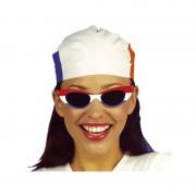 Merkloos Zonnebrillen rood/wit/blauw no.1 ovaal