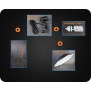 Zestaw oświetleniowy + parasol czarno-biały 400W 230cm Z79