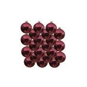 Bellatio Decorations 18x Fuchsia roze glazen kerstballen 6 cm glans