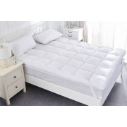 Direct Warehouse Ltd From £24.99 for a deep filled quilted duck feather mattress topper in sizes single - super king from Direct Warehouse