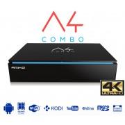 Amiko A4 android 4k UHD combo földi-kábel és műholdvevő