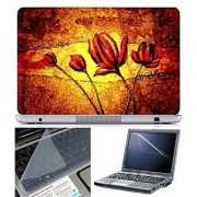 Finearts Laptop Skin Abstract Series 1034 With Screen Guard And Key Protector - Size 15.6 Inch