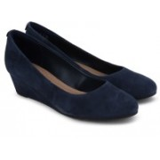 Clarks Vendra Bloom Navy Suede Belly Shoes For Women(Navy)