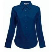 Lady-Fit Long Sleeve Oxford Shirt Navy