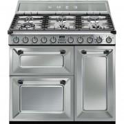 SMEG Tr93x Cucina 90x60 6 Fuochi A Gas Forno Elettrico Termoventilato 61 Litri C