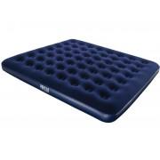 Saltea gonflabila pentru plaja / camping pentru 2 persoane, dimensiuni 203x183x22 cm, culoare Bleumarin