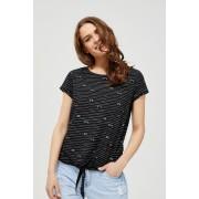 MOODO T-shirt z wiązaniem - - czarny
