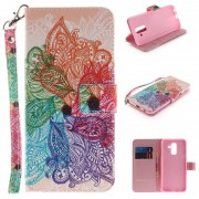 Samsung Galaxy A6+ (2018) Wonder Series Wallet Case - Paisley