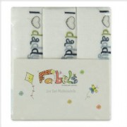 Fabels PINK OR BLUE Pannolini in cotone 3 pezzi I LOVE DADDY bianco - Gr.80x80 cm