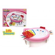 Little Treasures Cute Kitty Shaped Painting Word Pad Table For Kids To Trace & Draw Includes Many Style Stencils With Various Shapes & Forms Great Learn And Play Markers Educational Kit