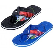 Indistar Men Step Care Comfortable Flip Flop House Slipper And Hawaai Chappal (Pack Of 2 Pairs)-Assorted_Multiple color_Size-8