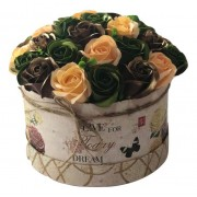Aranjament floral Vintage cu trandafiri de sapun