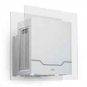Karee Exaustor Circulação 60 cm 640 m³/h LED Aço Inoxidável Vidro Branco