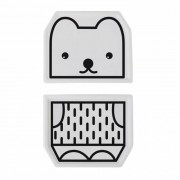 WEE GALLERY Duo d'assiette porcelaine Ours