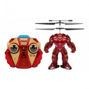 World Tech Toys Marvel or DC Comics 2CH IR RC Helicopter Flying Figure: Hulkbuster Red