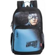 Skybags Sb Marvel Champ Cap-Am 35 L Backpack(Black, Blue)