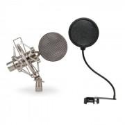Auna Set pro : Micro à rubans studio XLR pro+ filtre anti-pop + coffret bois
