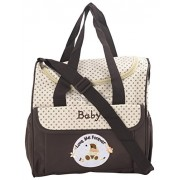 Obvio spacious mommy bags/diaper bag with sling belt and compartments love me forever brown (MBS-14)
