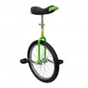 vidaXL Monocycle réglable Vert 20 pouces