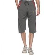 Vimal Dark Gray Cotton Blended Capri For Men