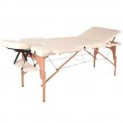 inSPORTline Fa Masszázs Asztal InSPORTline Japane - 3 Részes 9408/kremsarga