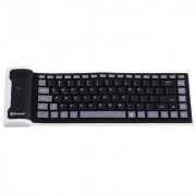 Flexible Silicone Wireless Bluetooth Keyboard Mini Keyboard with USB Charging Cable Universal For PC Laptop