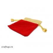 Săculeți catifea dreptunghiulari cu margine aurie (50 buc)