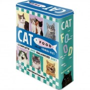 Bromma Kortförlag Plåtburk Cat Food Blå Hög