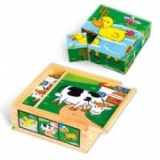 VIGA drvene kocke puzzle selo 8945