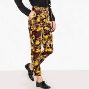 LA REDOUTE COLLECTIONS Hose mit hoher Taille, bedruckter Samt