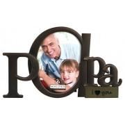 Malden International Designs Malden Bronze Script Papa Portarretrato de La Palabra Papa con Un Espacio para Foto