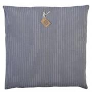 Dille&Kamille Housse de coussin, coton bio, anthracite rayure, 45 x 45 cm