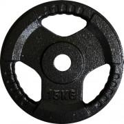 Диск за щанга 15 кг. Ø25 мм. с дръжки