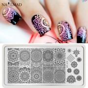 1 st Mandala Nail Art Stempel Plaat Mandara Plaat Paisley Stempelen Beeldplaat Damast Nail Stempelen Plaat XY-J13 MyXL