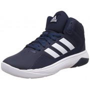 adidas neo Men's Cloudfoam Ilation Mid Conavy, Ftwwht and Ftwwht Leather Basketball Shoes - 11 UK/India (46 EU)