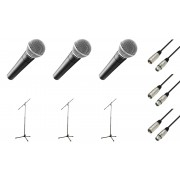 Shure SM 58 Triple Bundle Microfone Vocal Dinâmico