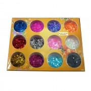 Sclipici hexagon mic set 12 bucati - Nail Art - Unghii False