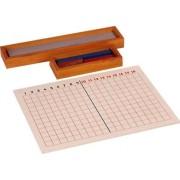 Subtraction Strip Board Framed w red, Blue & Plain Strips
