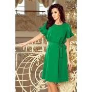 MyButik.pl Rose Sukienka Z Wiązaniem I Falbankami Na Rękawkach Zielona S/M/L/XL