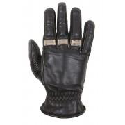 Helstons Velvet Ete Gloves Black Beige M L