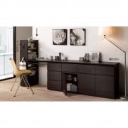 ギャラリー壁面収納 洗練デザインのリビングカウンター収納シリーズ サイドラック 幅25cm [パモウナ YAー250]