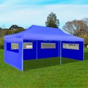 vidaXL Сгъваема парти шатра, синя, 3 x 6 м
