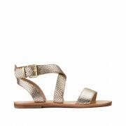 La Redoute Collections Plus Sandálias em pele, efeito ondulado, especial pés largosDourado- 39