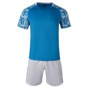Conjunto De Fútbol Jersey Para Unisexo Permeabilidad De Color Solido - Azul Claro